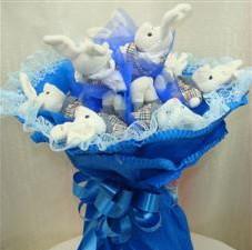 7 adet pelus ayicik buketi  Malatya internetten çiçek siparişi