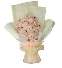 11 adet pelus ayicik buketi  Malatya çiçek siparişi vermek