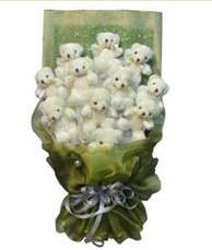 11 adet pelus ayicik buketi  Malatya çiçek online çiçek siparişi