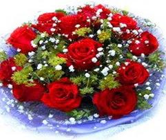 9 adet kirmizi güllerden buket  Malatya internetten çiçek satışı