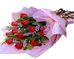 11 adet kirmizi güllerden görsel buket  Malatya hediye çiçek yolla