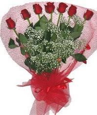 7 adet kipkirmizi gülden görsel buket  Malatya çiçek gönderme sitemiz güvenlidir
