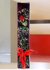 kutu içinde tek kirmizi gül  Malatya çiçek yolla , çiçek gönder , çiçekçi