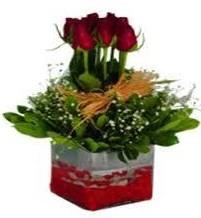 Malatya çiçek siparişi sitesi  7 adet mika yada cam vazoda gül tanzimi