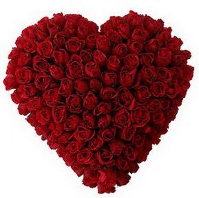 Malatya cicek , cicekci  muhteşem kırmızı güllerden kalp çiçeği