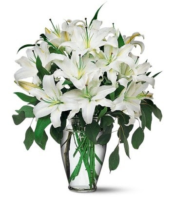 Malatya uluslararası çiçek gönderme  4 dal kazablanka ile görsel vazo tanzimi