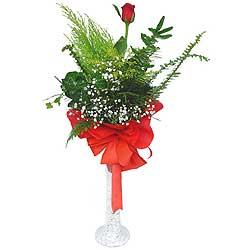 Malatya yurtiçi ve yurtdışı çiçek siparişi  Cam vazoda masum tek gül