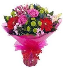 Karışık mevsim çiçekleri demeti  Malatya çiçek online çiçek siparişi