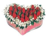 Malatya internetten çiçek satışı  mika kalpte kirmizi güller 9