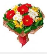 1 demet karışık buket  Malatya online çiçekçi , çiçek siparişi