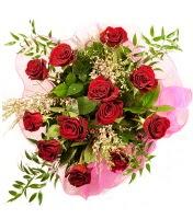 12 adet kırmızı gül buketi  Malatya güvenli kaliteli hızlı çiçek