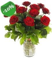11 adet vazo içerisinde kırmızı gül  Malatya çiçek online çiçek siparişi