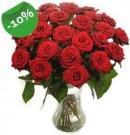 Vazo içerisinde 25 adet kırmızı gül  Malatya çiçek servisi , çiçekçi adresleri