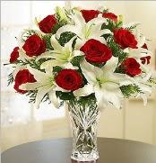 12 adet kırmızı gül 2 dal kazablanka vazosu  Malatya çiçekçiler