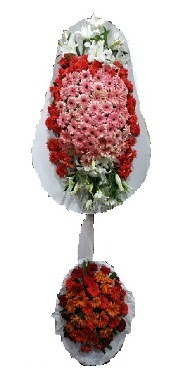 çift katlı düğün açılış sepeti  Malatya uluslararası çiçek gönderme
