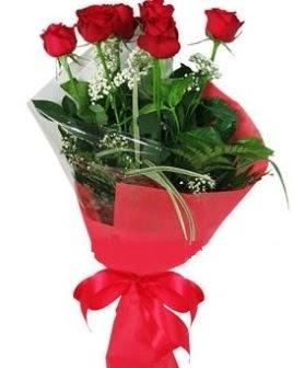 5 adet kırmızı gülden buket  Malatya çiçek yolla