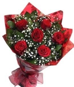6 adet kırmızı gülden buket  Malatya çiçekçi telefonları
