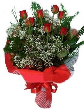 7 kırmızı gül buketi  Malatya İnternetten çiçek siparişi