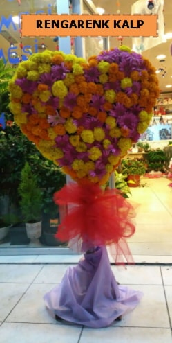Ankara mevsim çiçeklerinden kalp perförje  Malatya internetten çiçek satışı