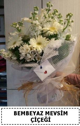 Bembeyaz görsel mevsim çiçek buketi  Malatya çiçekçi mağazası