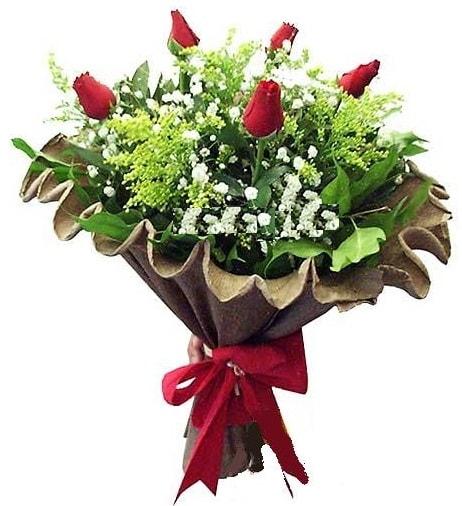 5 adet gülden buket  Malatya hediye çiçek yolla