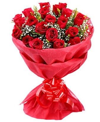21 adet kırmızı gülden modern buket  Malatya çiçek siparişi sitesi