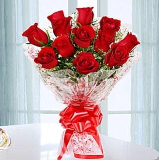 11 adet kırmızı gülden görsel şık buket  Malatya çiçek siparişi vermek