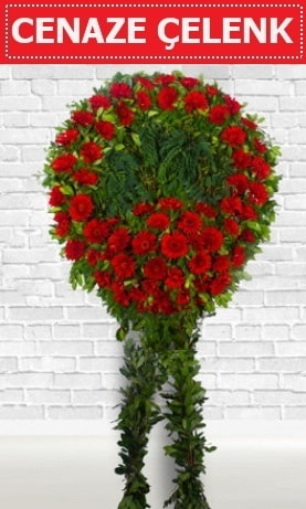 Kırmızı Çelenk Cenaze çiçeği  Malatya ucuz çiçek gönder