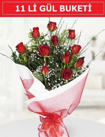 11 adet kırmızı gül buketi Aşk budur  Malatya hediye çiçek yolla