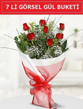 7 adet kırmızı gül buketi Aşk budur  Malatya çiçekçiler