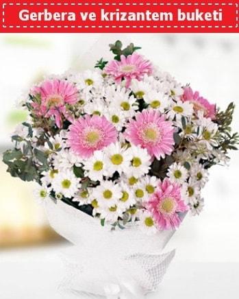 Papatya ve Gerbera Buketi  Malatya internetten çiçek siparişi