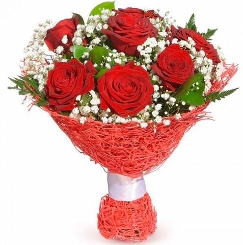 7 adet kırmızı gül buketi  Malatya 14 şubat sevgililer günü çiçek
